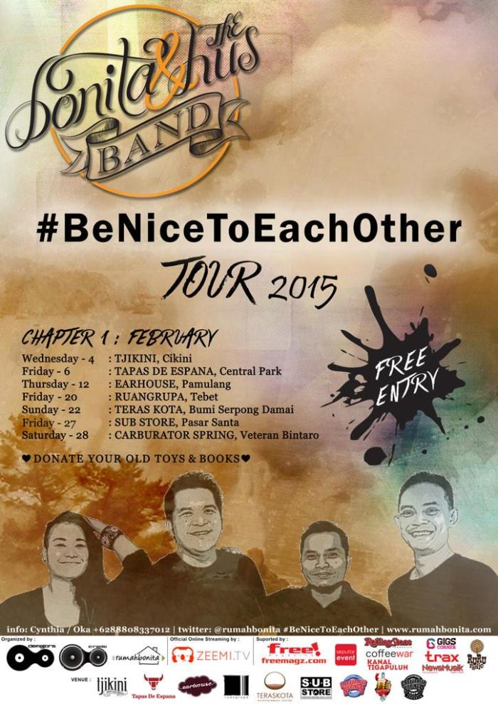 Bonita & the HUSband - Be Nice to Each Other Tour 2015